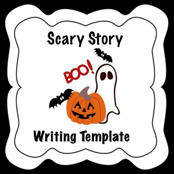 SPED Halloween Writing Activity Template with Sentence Starters - Scary Story