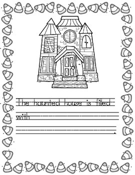 Halloween Writing Template/Prompts