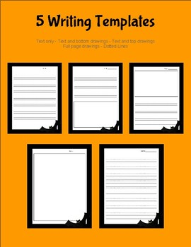 Halloween Writing Templates