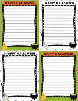 Halloween Writing Templates & Journals