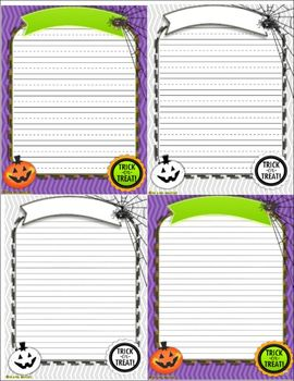 Halloween Writing Templates & Journals