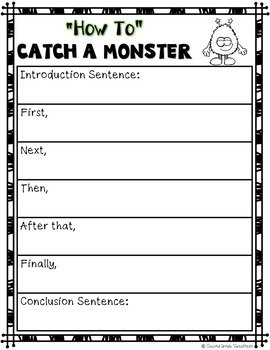 Halloween Writing Unit: How to Catch a Monster