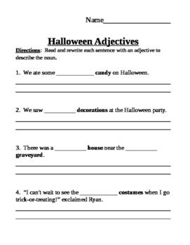 Halloween Writing Fun