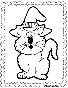 Halloween Writing and Coloring Pages