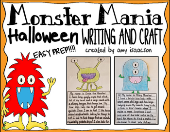 Halloween Writing and Craft Activity