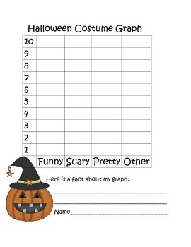 Halloween Writing and Graphing