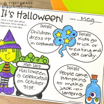 Halloween Writing For First Grade By First Grade Schoolhouse  Tpt