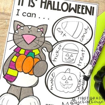 Halloween Writing for Kindergarten
