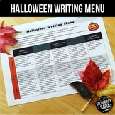 Halloween Writing for Teens: Choice Menu with 40 Prompts {