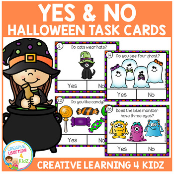 Yes & No Halloween Picture Question Task Cards