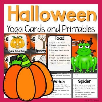 Halloween Yoga Cards and Printables- Halloween Activity