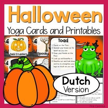 Halloween Yoga Cards and Printables- DUTCH VERSION