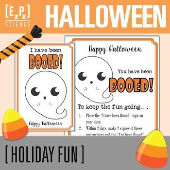 "Halloween ""You have been Booed!"" Freebie"