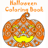 Halloween Zentangle & Mandala Coloring Pages- Halloween Theme Coloring Sheets
