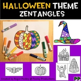 Halloween Zentangles,  No Prep Coloring Pages