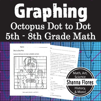 Halloween - Zombie Dot to Dot, Graphing Ordered Pairs, Hid
