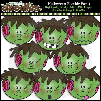 Halloween Zombie Faces