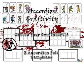 Halloween Zombies Ate My Teacher! Fold-Ems & Accordion Craftivity
