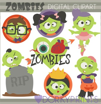 Halloween Zombies Clip Art
