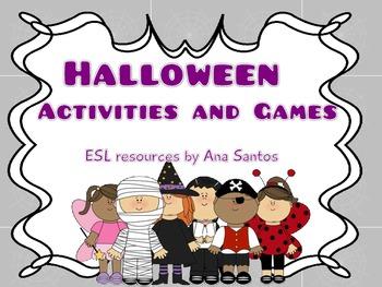 Halloween activities- ESL