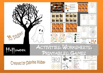 Halloween - activities, worksheets, printables and games [35 pages]