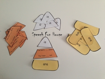 Halloween activity- Candy Corn verbs: Is/are & was/were