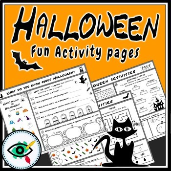 Halloween activity pages
