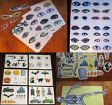 Halloween activity printable A4 sheets for craft - spooky