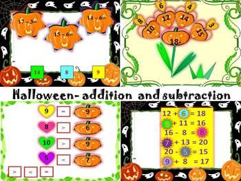 Halloween Activities - Pumpkins - Addition and Subtraction