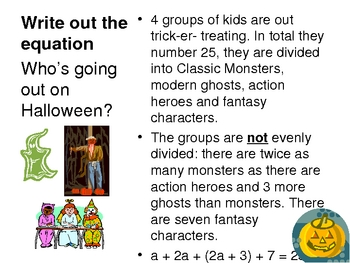Halloween algebra