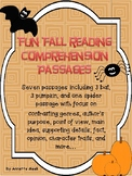 Halloween and Autumn Comprehension passages