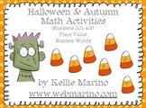 Halloween Place Value Math Station Activities