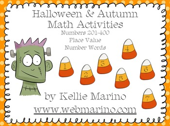 Halloween Place Value Math Station Activities