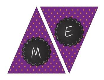 Halloween and Boo Printable Banners! Orange, Purple, Lime Green, Pumpkins