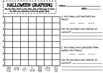 Halloween and Candy themed Graphing