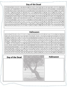 Halloween and Day of the Dead Activity Sheet