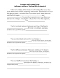 Halloween and Day of the Dead Compare and Contrast Essay Template