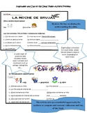 Halloween and Day of the Dead Video Spanish Activity Sheets
