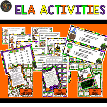 Halloween and Fall Literacy and Math Activities Bundle