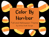 Halloween and Fall Color By Number FREEBIE