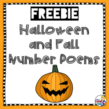 Halloween and Fall Number Poems Freebie for 2nd - 6th Grade
