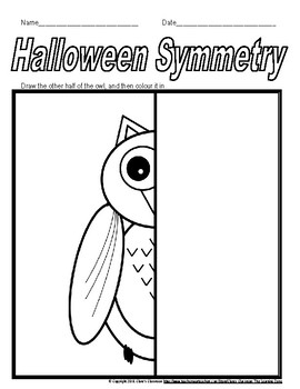 Halloween and Fall Symmetry Worksheets