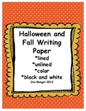 Halloween and Fall Writing/Drawing Paper