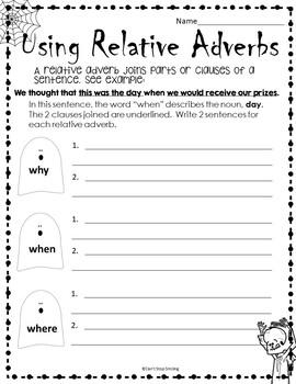 Halloween 4th Grade ~ Halloween Grammar