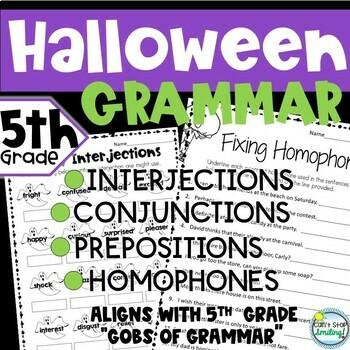 Halloween 5th Grade ~ Grammar 5th Grade
