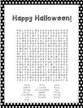 Halloween and Harvest Word Searches FREEBIE