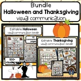 Halloween and Thanksgiving PECS communication BUNDLE. Editable. 900+ icons
