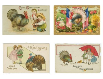 Halloween and Thanksgiving Postcard from the Victorian Era