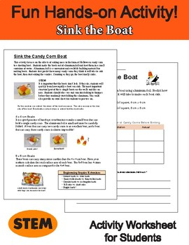 Halloween and Thanksgiving Science: Candy Corn Boats