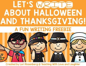 Halloween and Thanksgiving Writing Freebie